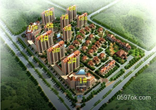 中福城(馨和园)楼盘鸟瞰图